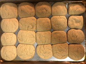 cbd infused sugar cookies fresh out of the oven