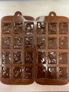 delta 8 infused chocolate in chocolate molds